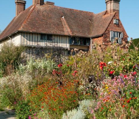 Great Dixter long border in October