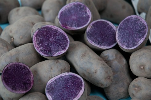 Slad Blue potatoes