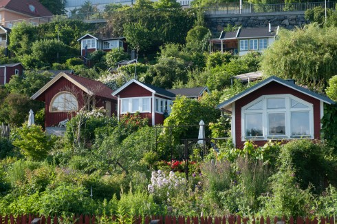 Stockholm allotments on a steep hill 2