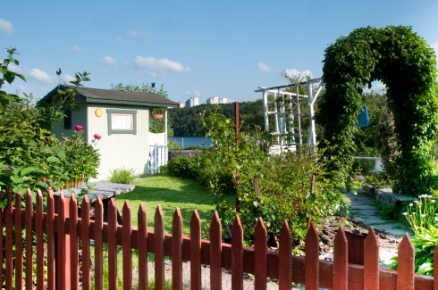 Stockholm allotments overlooking the water