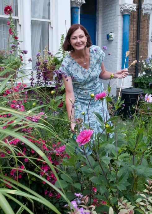 Annie in her front garden
