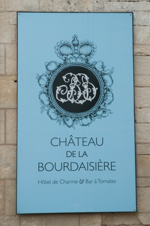 Chateau de la Bourdaisiere Sign