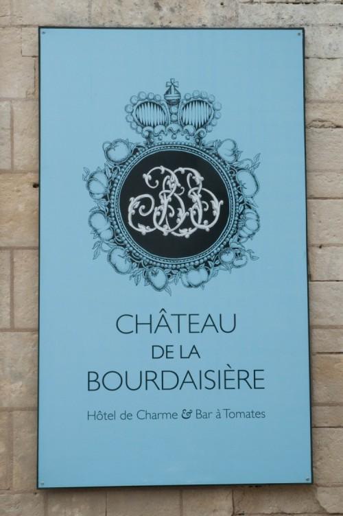 Chateau de la Bourdaisiere Sign