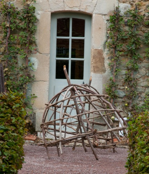 Frames for roses at Prieure D'Orsan